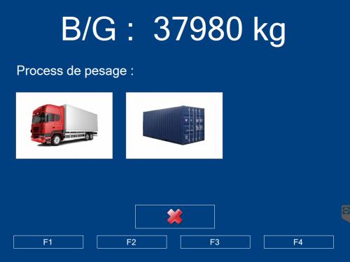 ecran pesage container